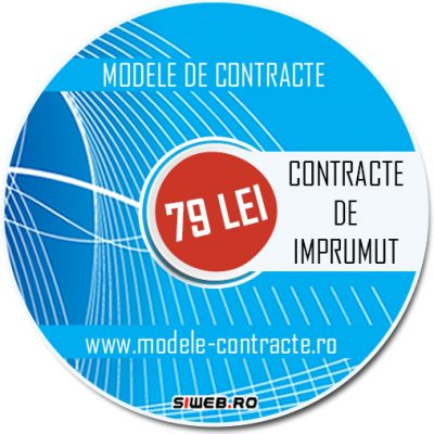 model contract imprumut